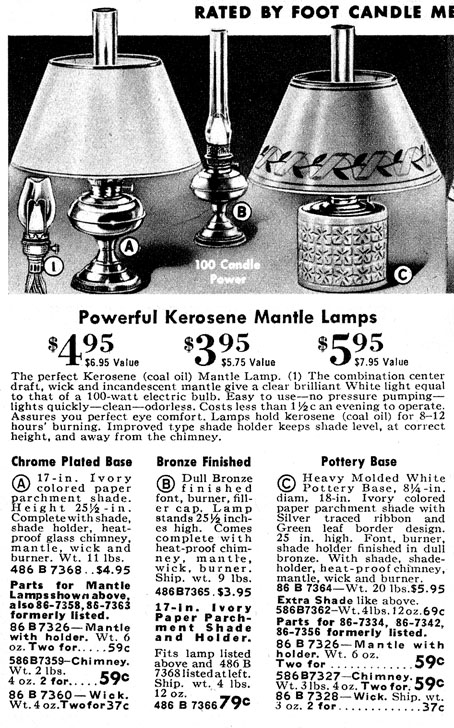 Mantle lamps based upon RAYO tooling