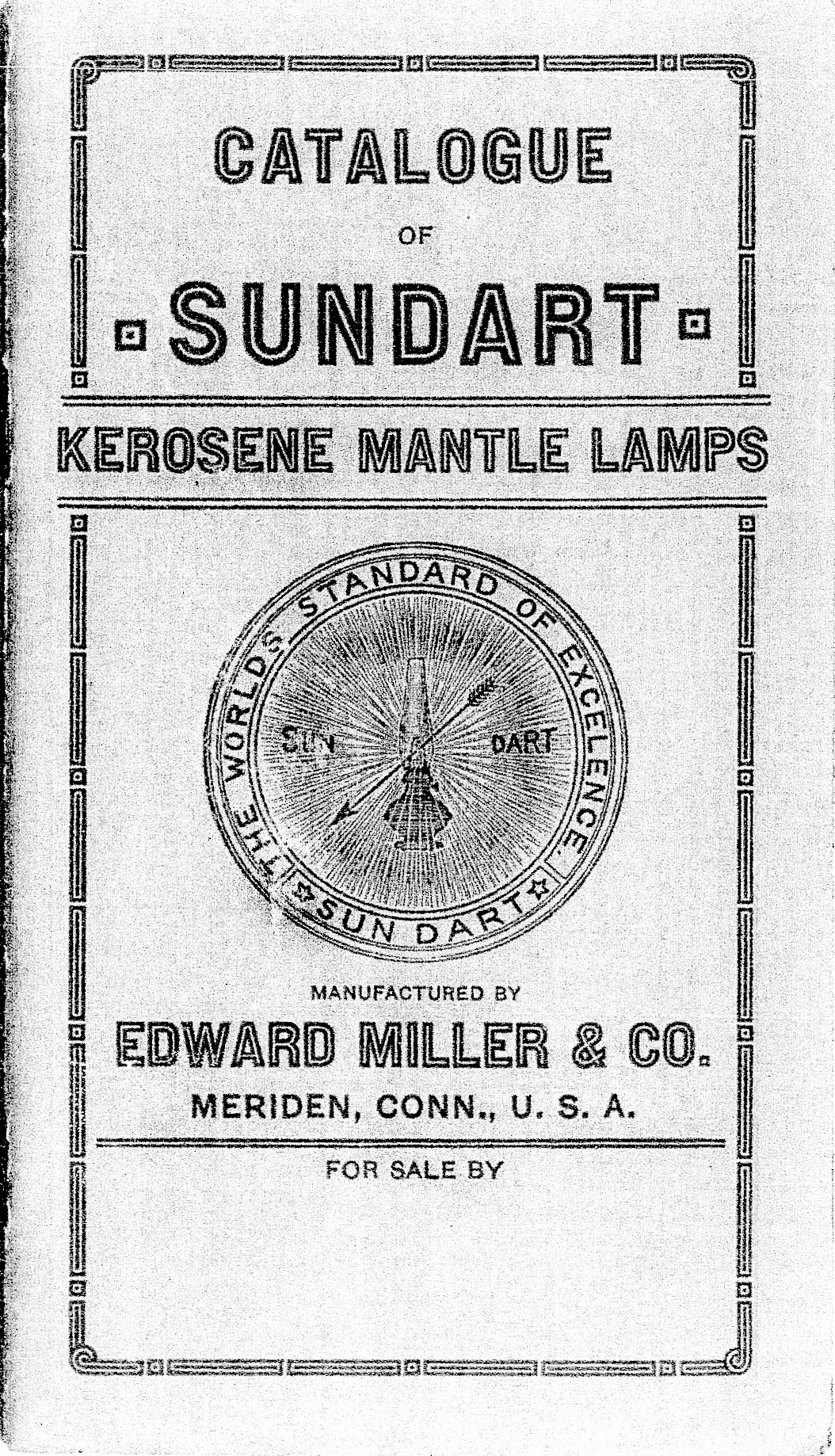 Sundart mantle lamp catalog cover page