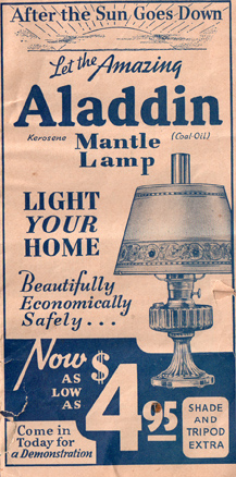 1935 Aladdin lamp catalog