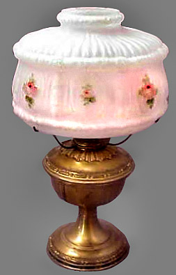 Aladdin model 7 with rose shade