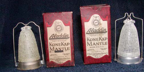 1930's Aladdin KneKamp mantles and boxes