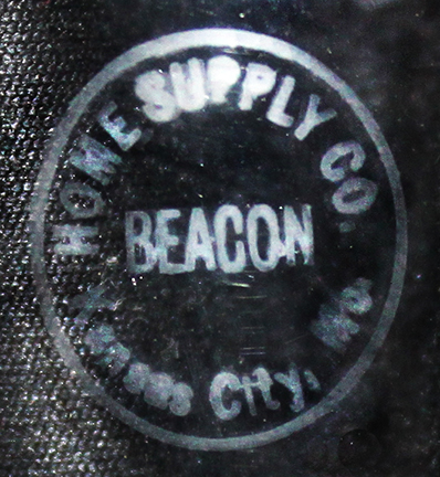 Beacon mantle lamp chimney logo