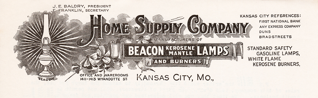 Home Supply Company - Beacon letterhead 1917