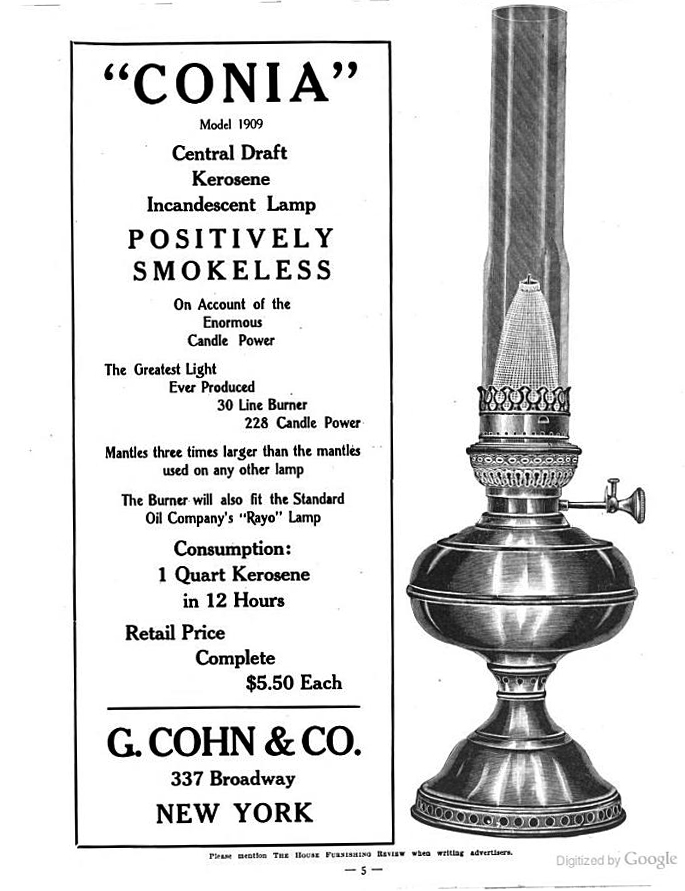 CONIA mantle lamp and burner