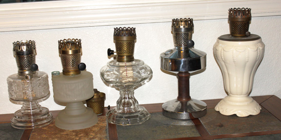 Some Farmor mantle lamps